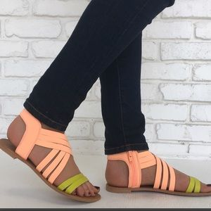 Neon Sandals Brand New Never Worn Size 6.5